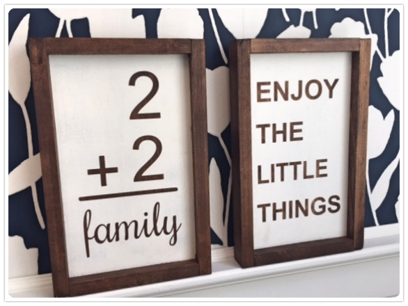 Enjoy the little Things-2+2=Family