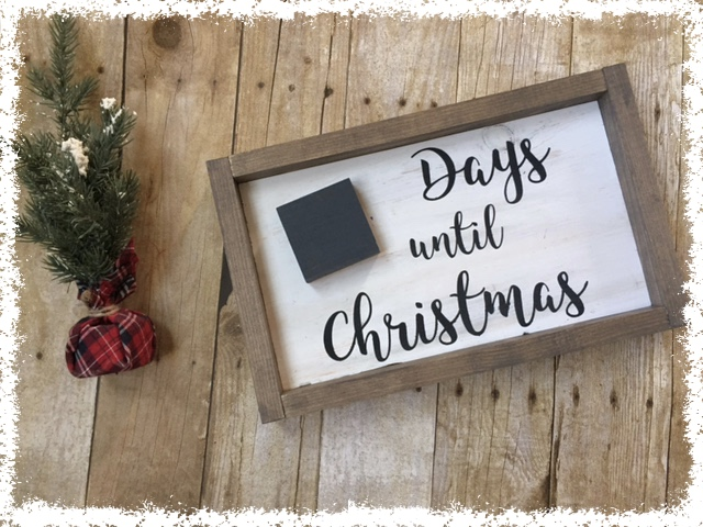 Day Until Christmas Sign