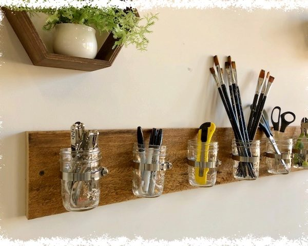 Mason Jar Supply Holder