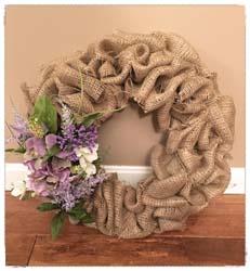 Burlap Spring Wreath $50