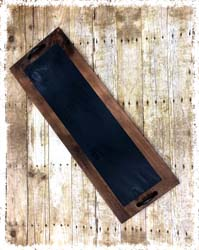 """Chalkboard Tray with Handles 12""""x32"""" $48"""