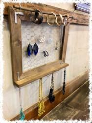 "Rustic Jewelry Holder 20.5""x 16.5""  $53"
