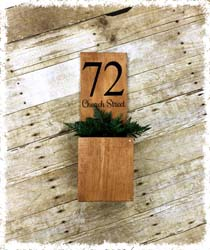 "House Number Planter 16"" $42"