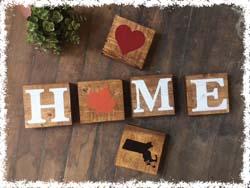Set of H.O.M.E. Wooden Blocks 5.5 $48