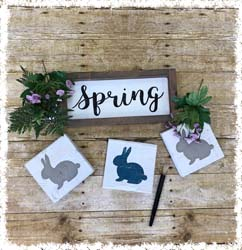 """Spring Sign and Double-Sided Blocks 13.5""""x6"""" $48"""