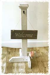 Front Door Sign Post