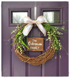 "Grapevine Wreath (with Wooden Sign Attached) 18"" $48"