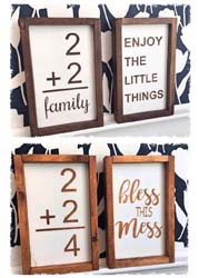 "Set of Two Vintage Family Flash Cards 7.5""x13.5"" $45"