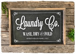 Large Laundry Sign $60