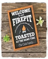 Firepit Sign $48
