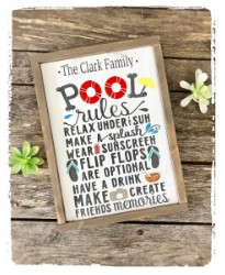 Pool Rules Sign $45