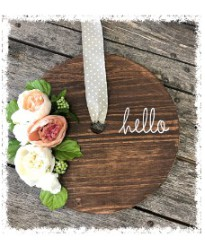 Wooden Door Wreath $50
