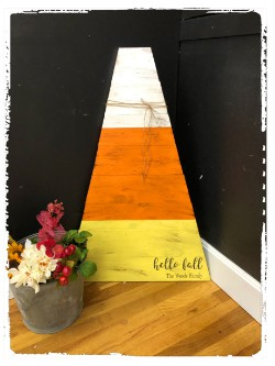 Large Wood Candy Corn $45