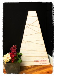 Large Wood Christmas Tree $45