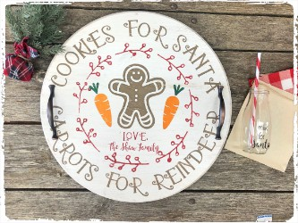 Cookies for Santa Tray and Milk Jug -$48.00