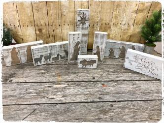 Wooden Nativity Scene- $60.00