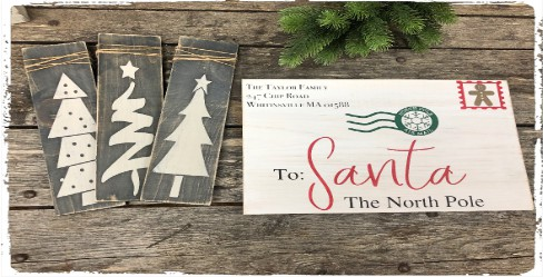 Letters to Santa and Painted Trees $45.00