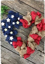 Patriotic Circle Wreath (heart no longer available) $50.00