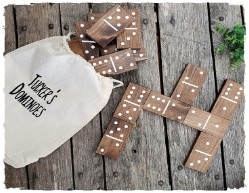 Travel Size Wooded Dominoes $37.00