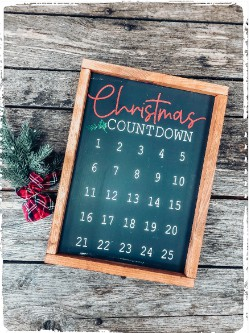 Holiday Countdown Double Sided $55.00