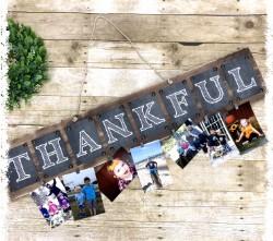 "Thankful Plaque 7.5""x36"" - $48"