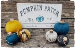 Yarn Pumpkin and Pumpkin Patch Sign $45.00