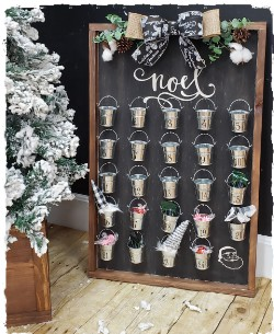 Large Framed Christmas Countdown - $70.00