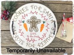 Cookies for Santa Tray and Milk Jug -$50.00