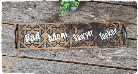 Family Cup of the Day Tray $40.00