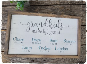 Framed Grandparent Sign- $48.00