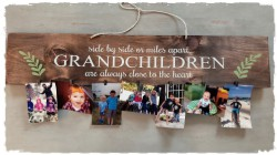 Grandparent Sign with Clips for Pictures- $50.00