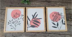 Botanical Leaf Frames (set of 3) $80.00