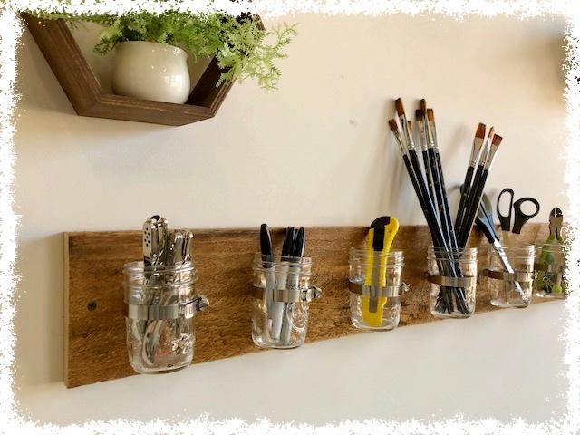 Mason Jar Supply Holder