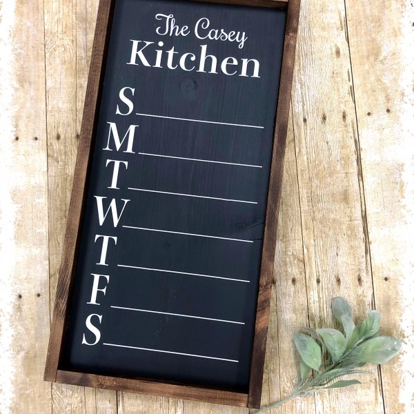 Custom Menu Board (Chalkboard)