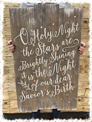 "O Holy Night Lighted Sign 22""x36"" $65"