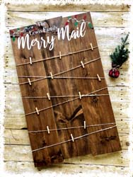 "Merry Mail Custom Sign 22""x36"" $60"
