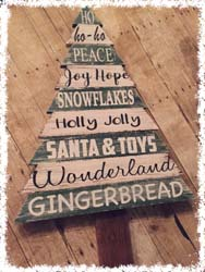 Wooden Christmas Tree $65