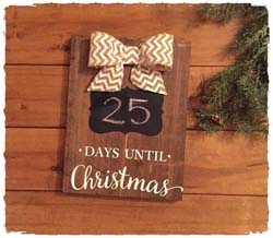 "Countdown Sign 11.25""x24"" $50"