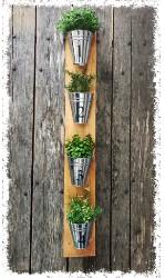 "Wooden Plank Herb Bucket 40.5"" $48"